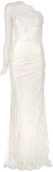 Emilio Pucci One Shouldered Dress in White - Lyst