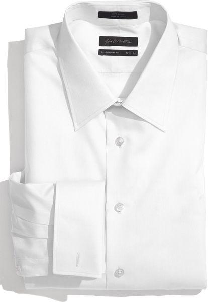 John W. Nordstrom® Traditional Fit Dress Shirt in White for Men