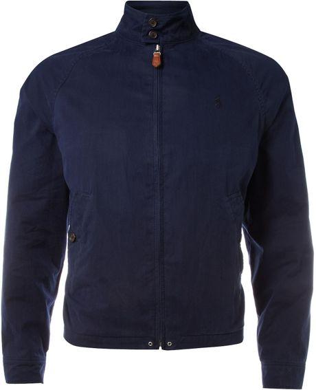 Polo Ralph Lauren Golf Peached Harrington Jacket In Blue