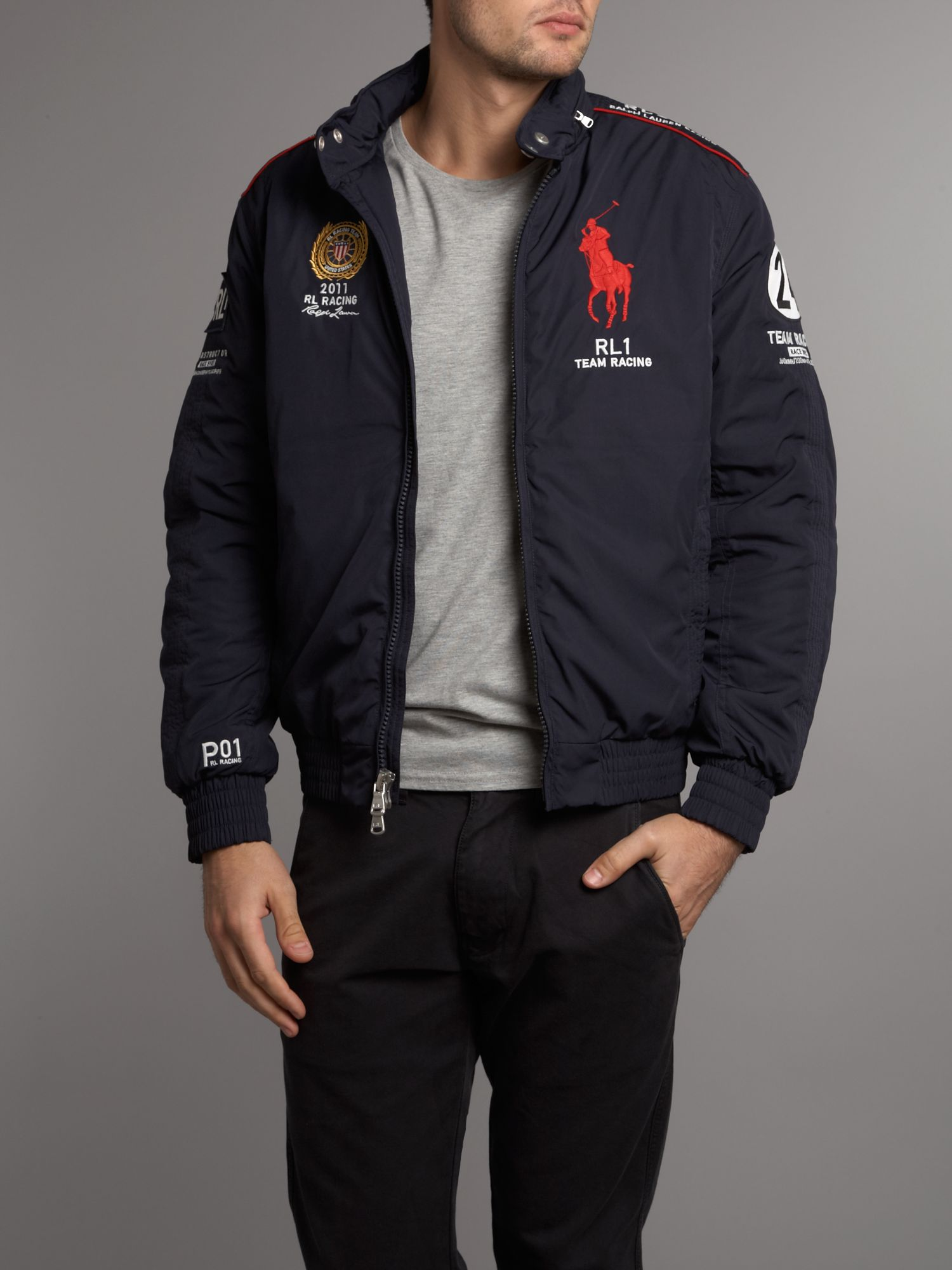 lyst polo ralph lauren racing usa technical jacket in. Black Bedroom Furniture Sets. Home Design Ideas