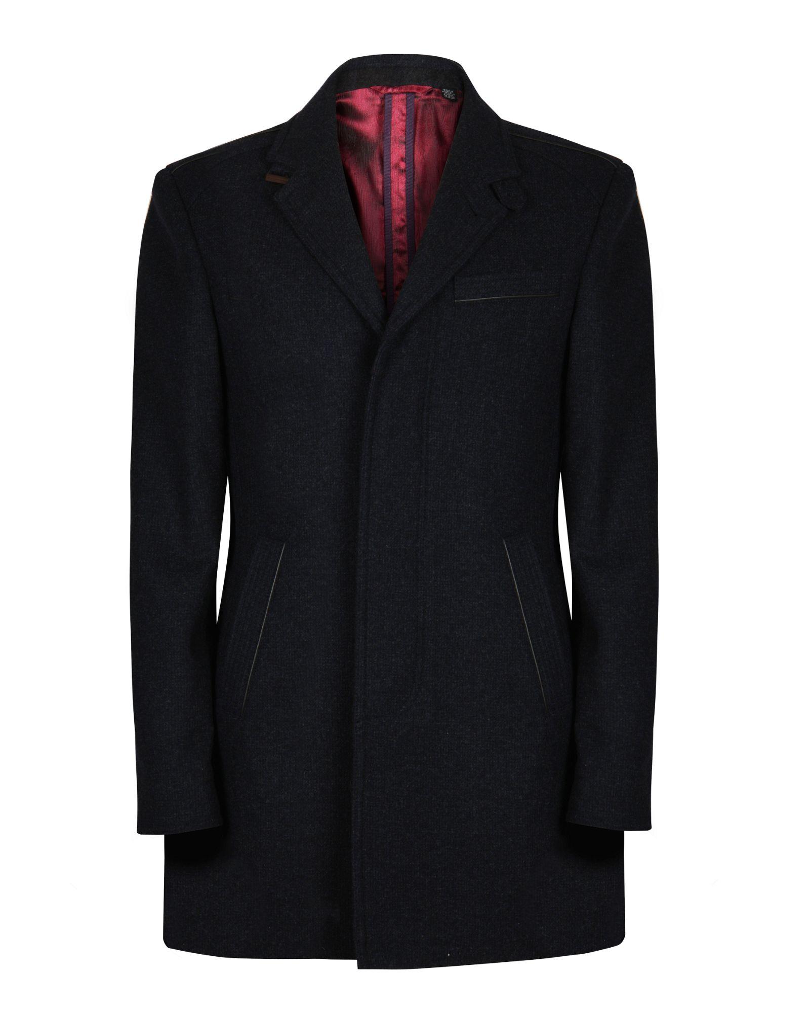 Ted Baker Wexford Coat In Gray For Men Lyst