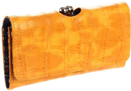 Big Buddha Big Buddha Betty Clutch in Yellow - Lyst