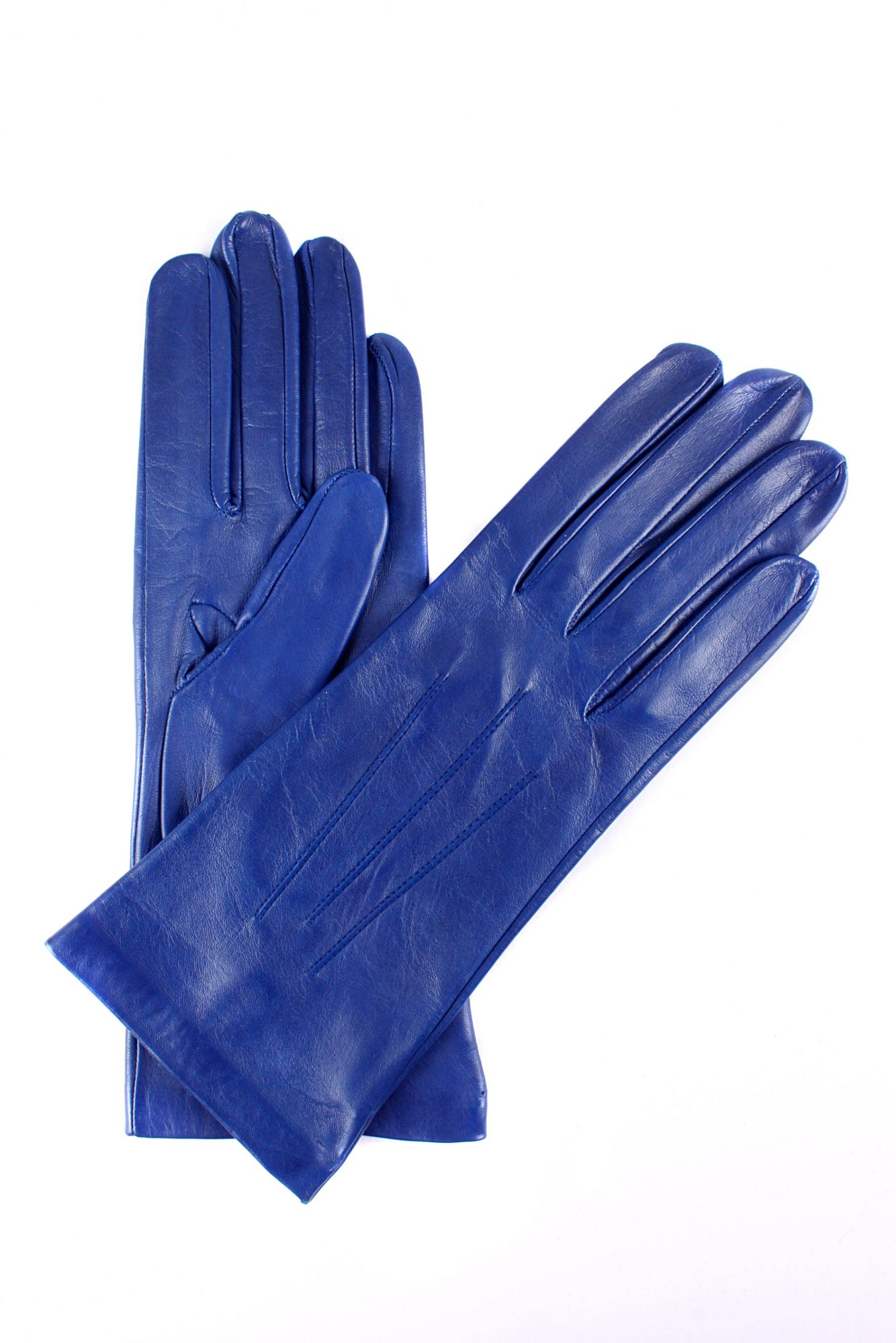 Ladies leather gloves blue -