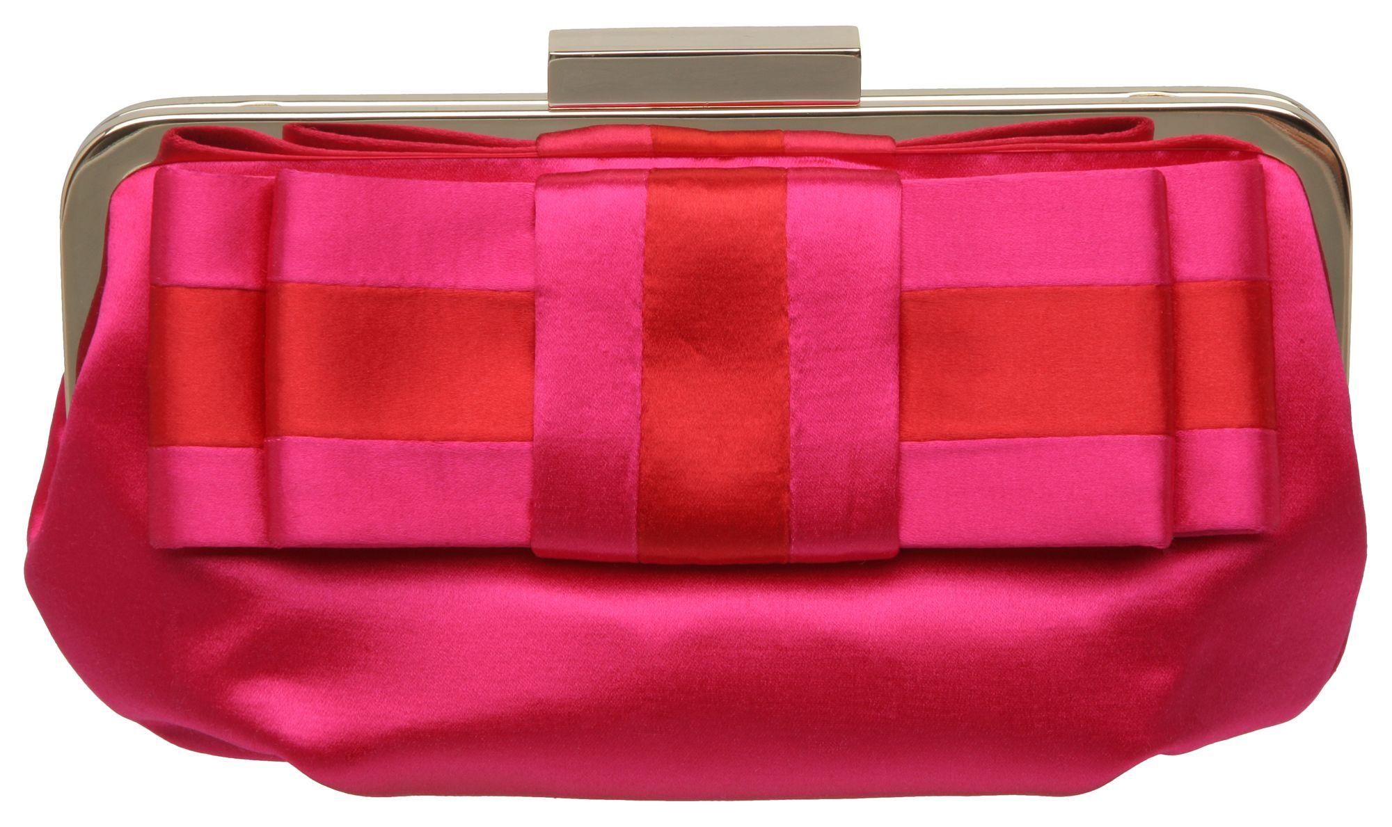 Dune B Laturn Satin Bow Clutch Bag In Pink (fuchsia) | Lyst