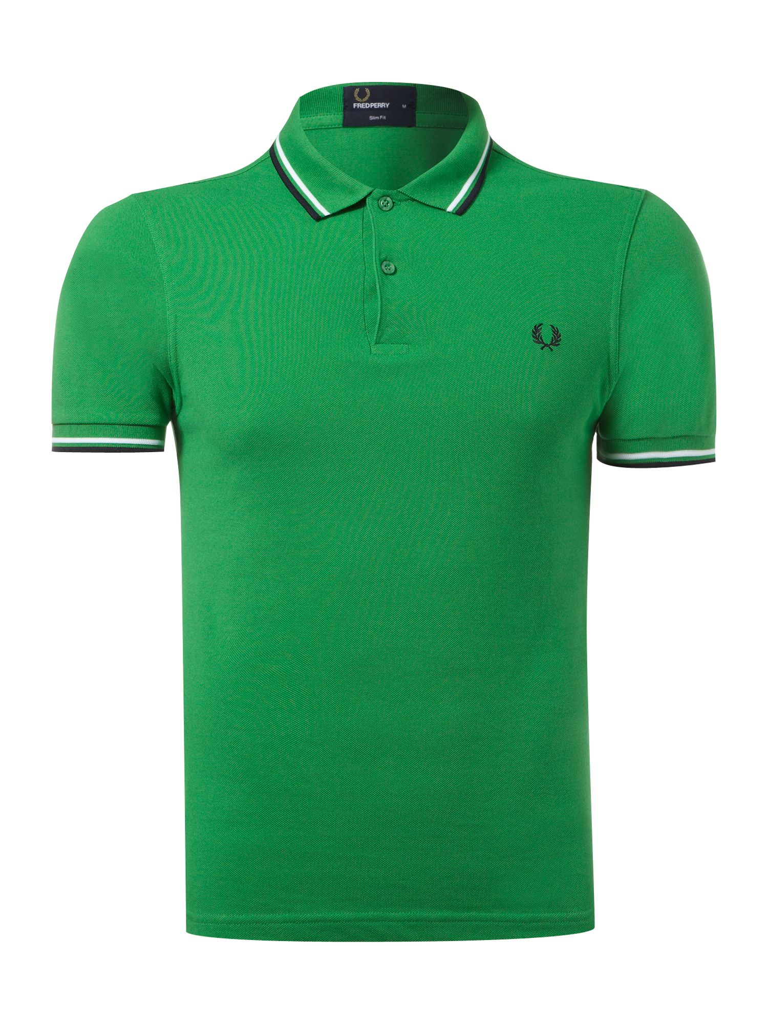 fred perry twin tipped slim fit polo shirt in green for. Black Bedroom Furniture Sets. Home Design Ideas