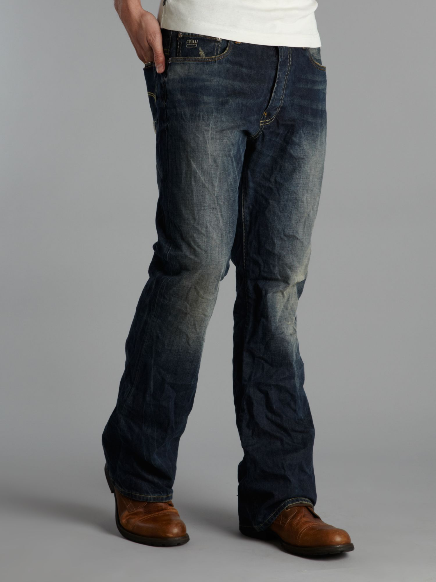 G-star raw Bootcut Jeans in Blue for Men | Lyst
