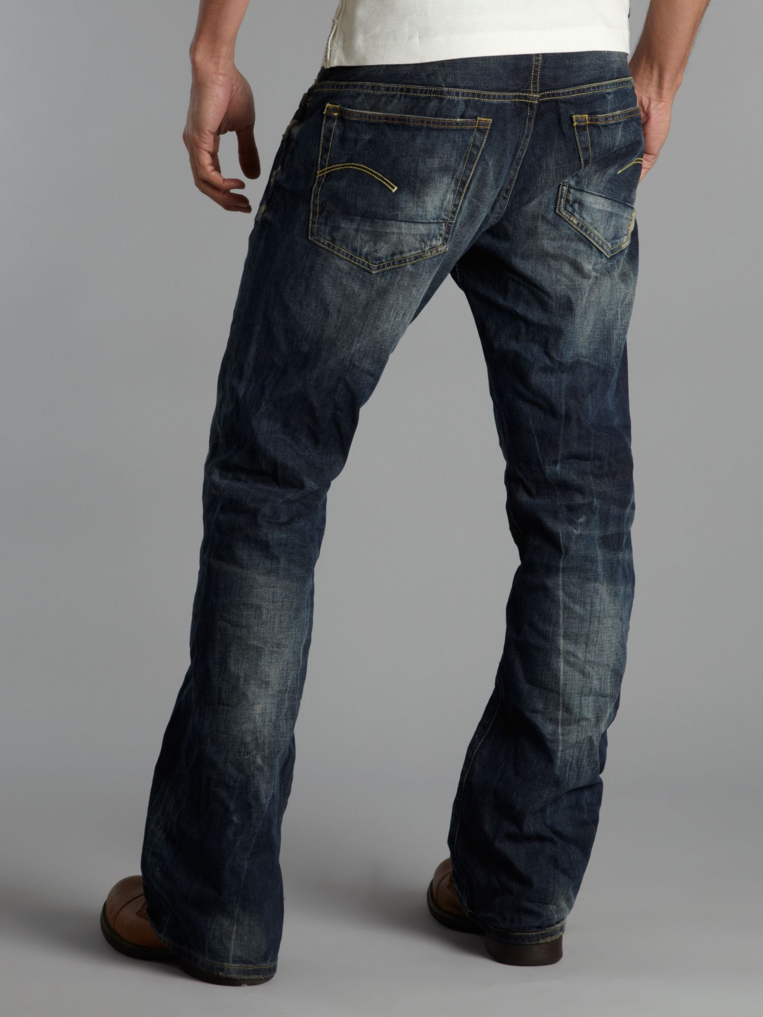 Lyst G Star Raw Bootcut Jeans In Blue For Men
