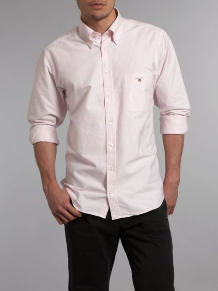 Light Pink Oxford Shirt Oxford Shirt in Pink For