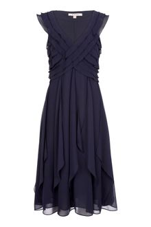 Jacques Vert Monique Crossover Chiffon Dress - Lyst