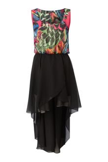 John Zack Feather Print Hilow Dress - Lyst