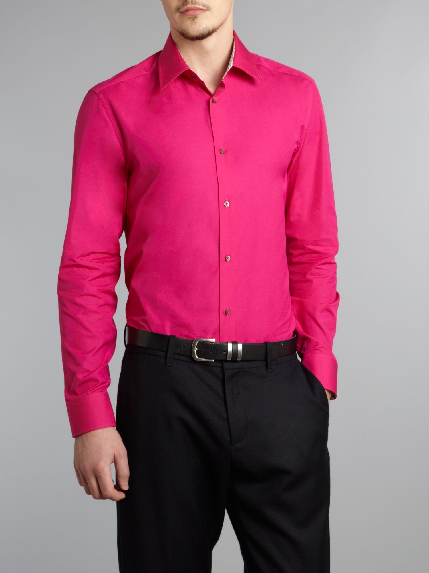 Bright Pink Shirt Mens | Is Shirt