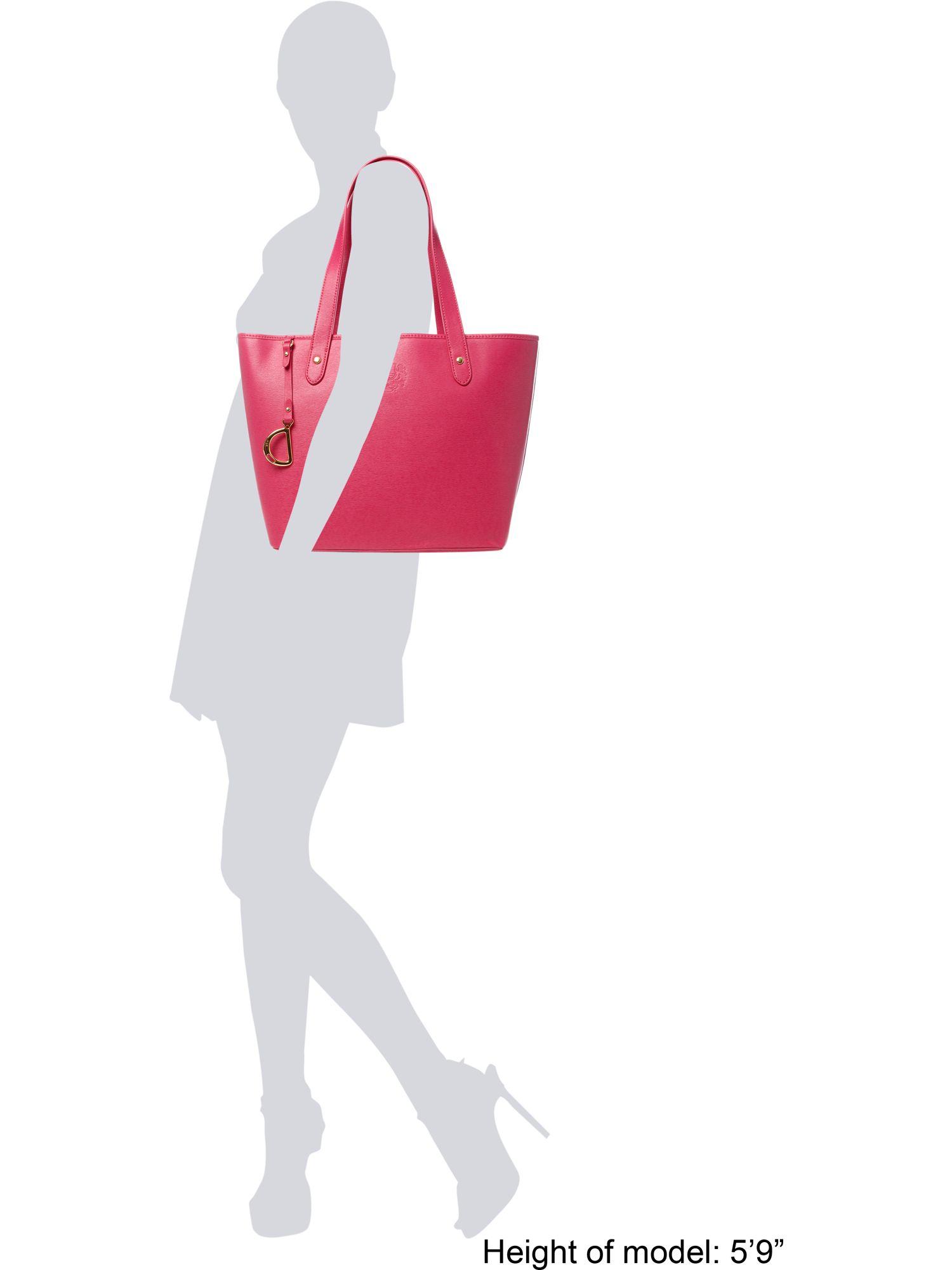 Lyst - Lauren By Ralph Lauren Large Newbury Tote Bag in Pink b7b2e41489