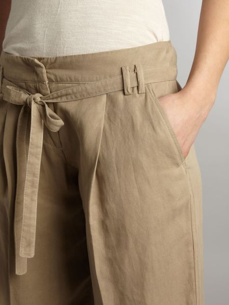 Weekend By Maxmara Linen Silk Cargo Trousers In Beige Lyst