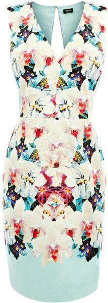 Oasis Oasis Aliza Mirrored Print Dress in Multicolor (multi-coloured)