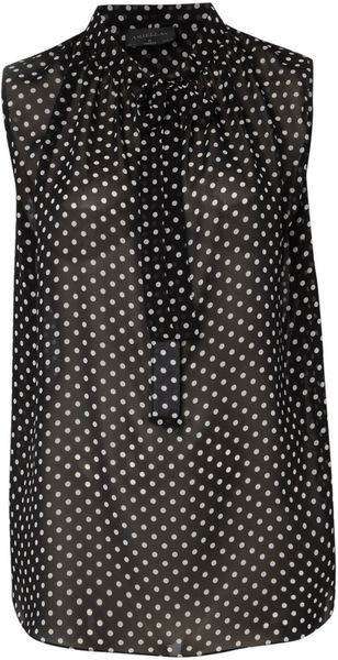 Pied A Terre Polka Dot Blouse in Black