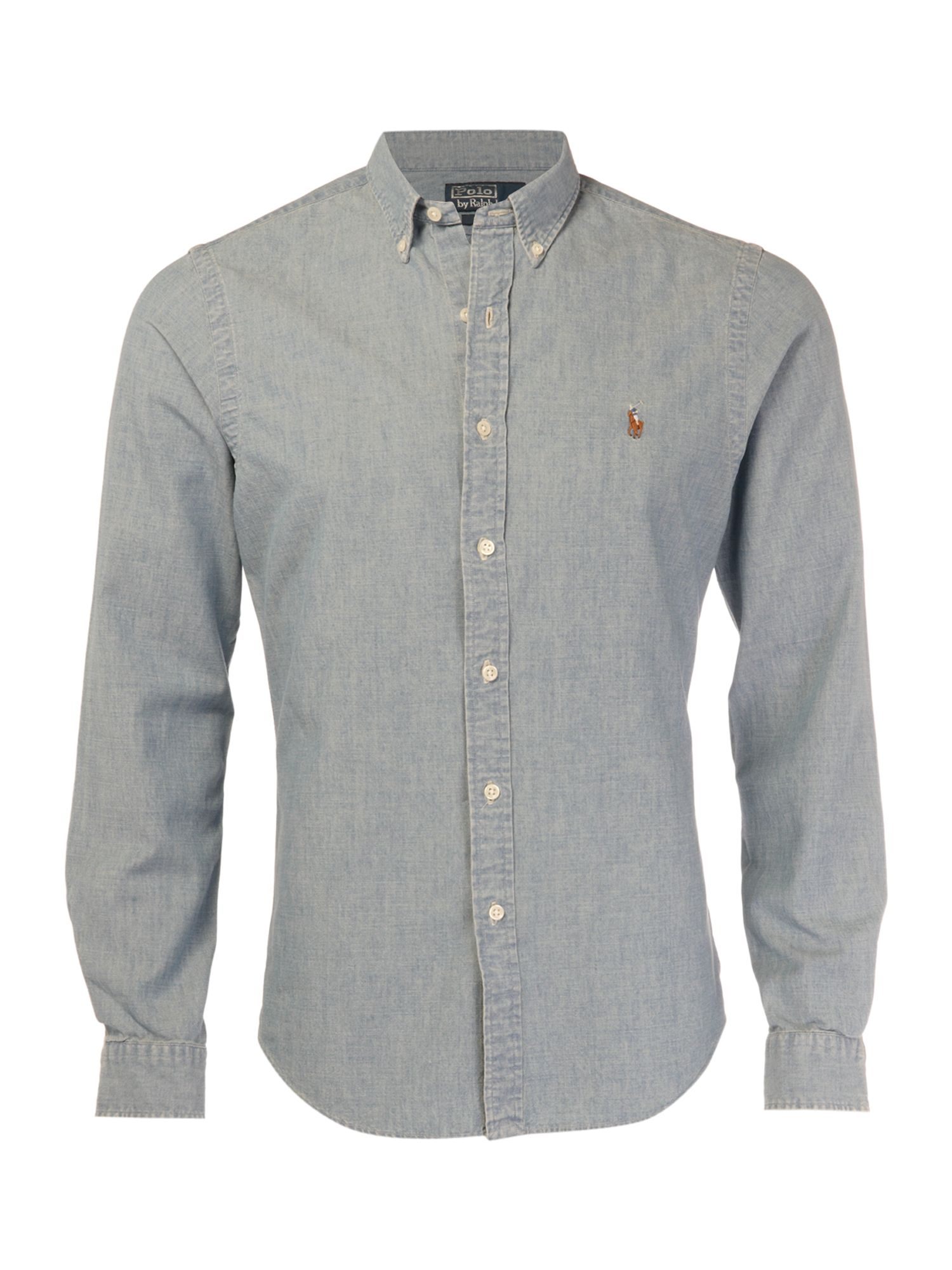 Polo Ralph Lauren Button Down Chambray Shirt In Blue For