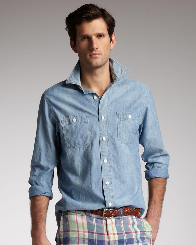 365cf3eb6 Polo Ralph Lauren Chambray Shirt Blue in Blue for Men - Lyst