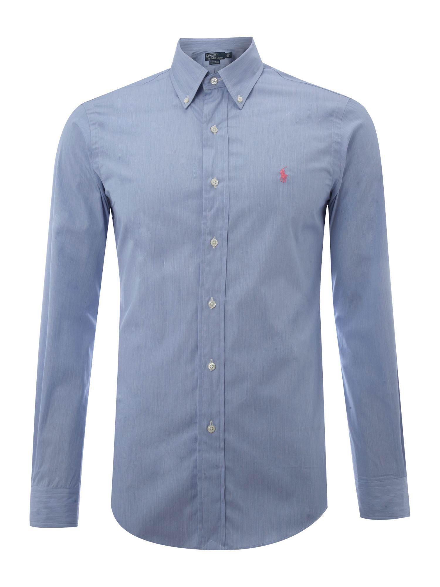 Lyst polo ralph lauren long sleeved custom fitted shirt for Long sleeve fitted polo shirts