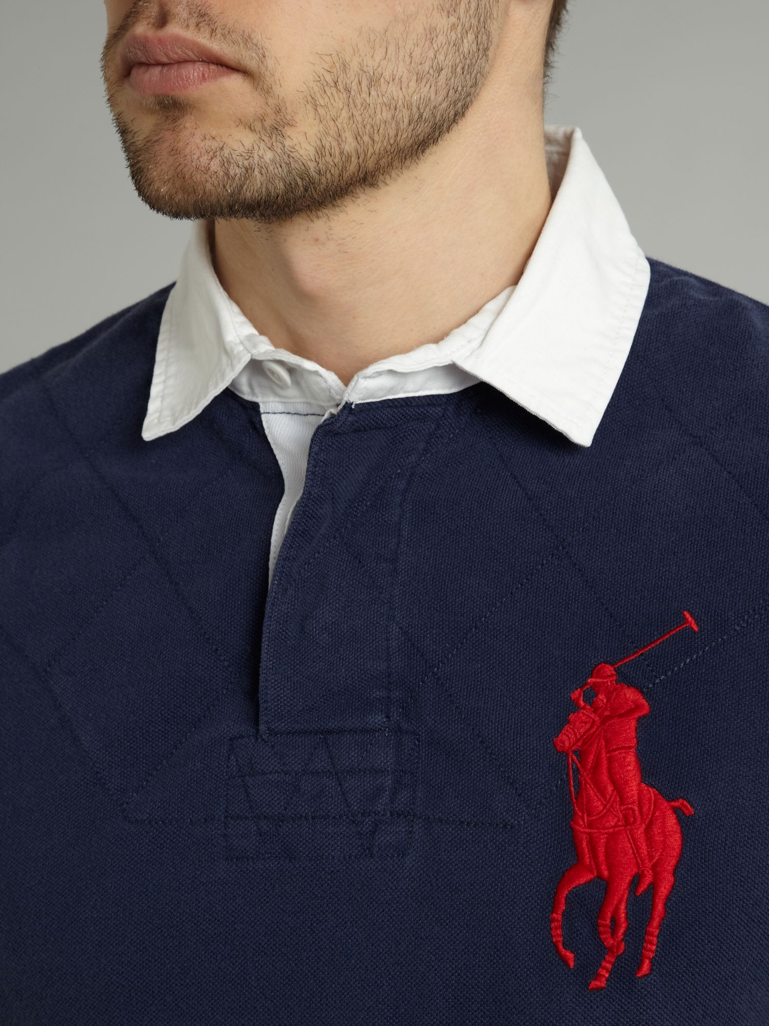 Ralph Lauren Men Big Pony Black Collar Shirts