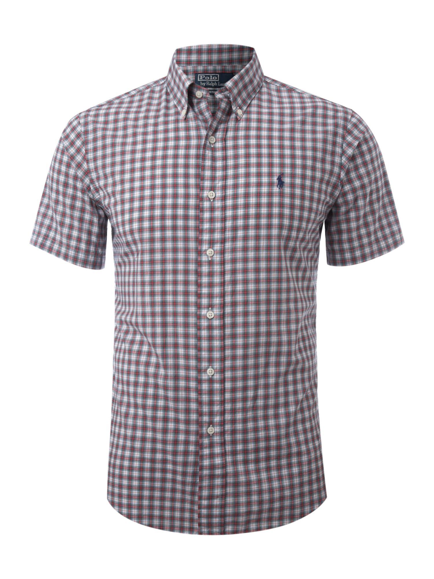 Polo Ralph Lauren Short Sleeved Custom Fitted Tartan Shirt