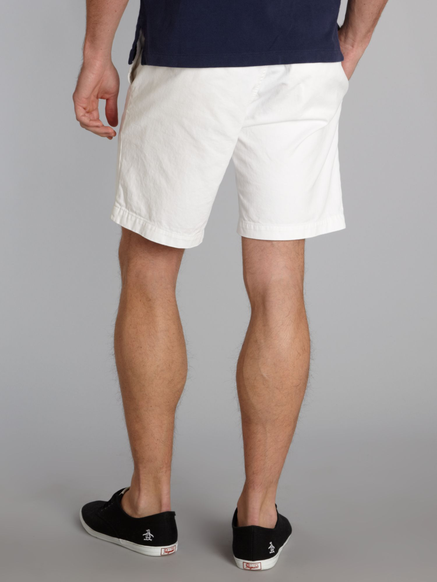 White Fitted Shorts Hardon Clothes