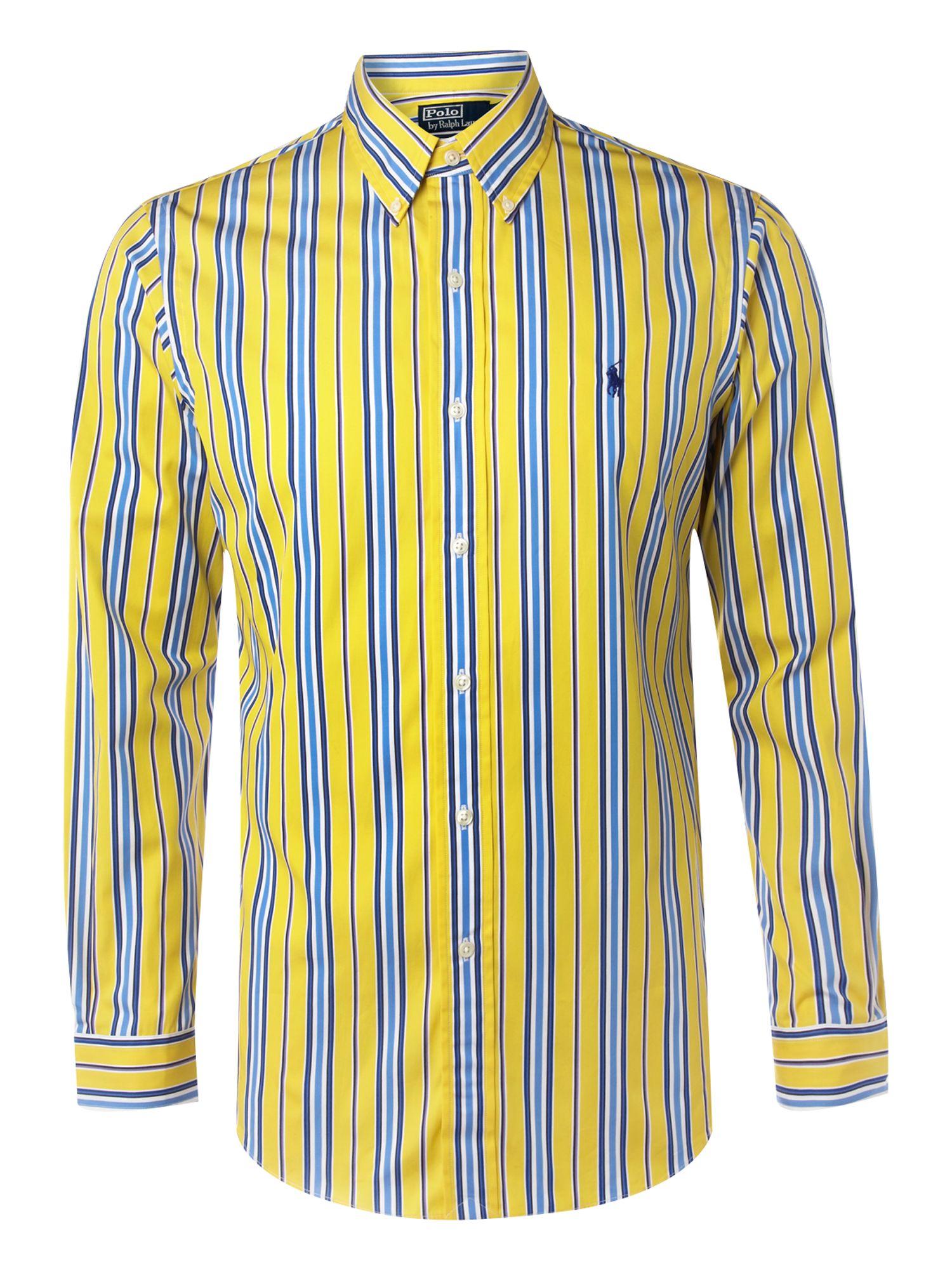 polo ralph lauren custom fit striped cotton poplin dress shirt male models picture. Black Bedroom Furniture Sets. Home Design Ideas