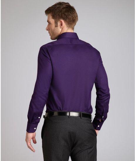 Ralph lauren purple label regal purple cotton twill horse for Black ralph lauren shirt purple horse