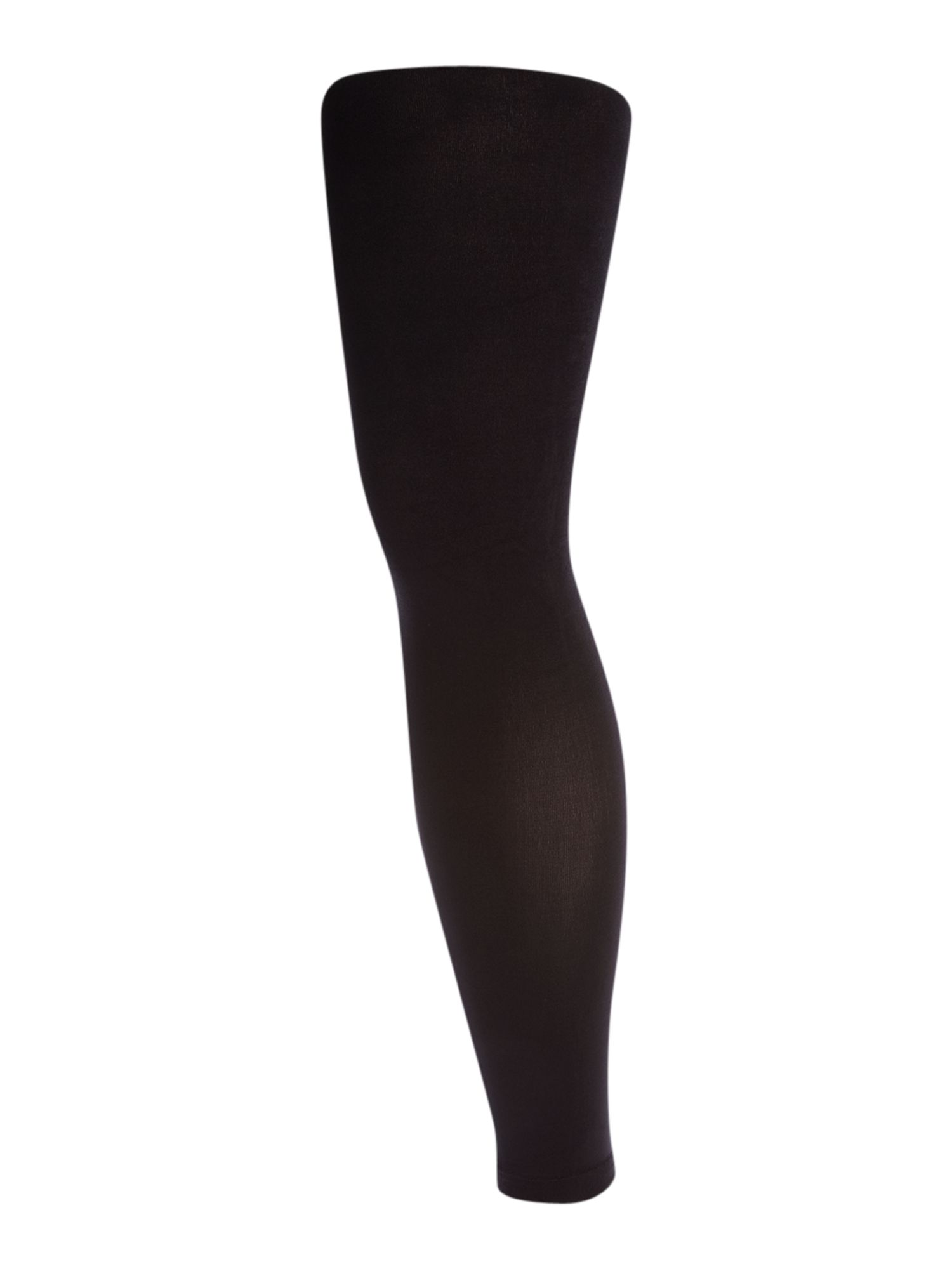 Therapy 80 Den Opaque Footless Tights In Black Lyst