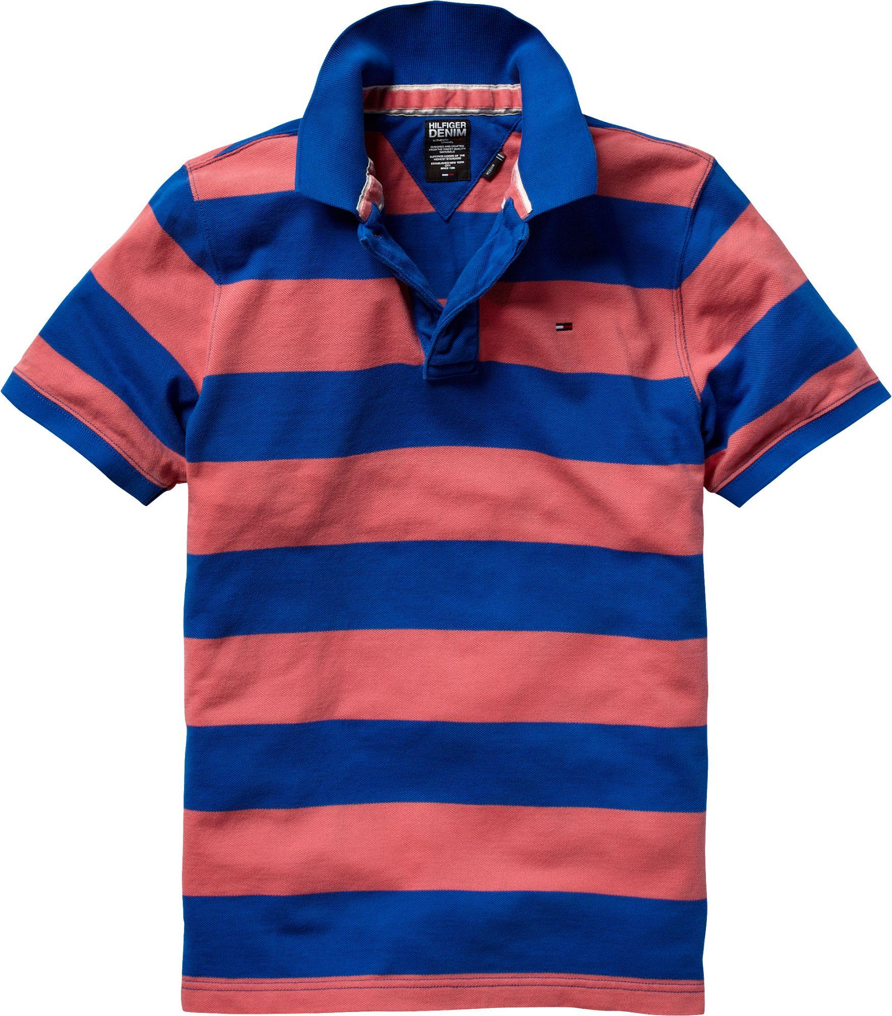 tommy hilfiger pilot striped polo shirt in blue for men lyst. Black Bedroom Furniture Sets. Home Design Ideas