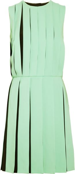 Versus  Pleated Crepe Dress - Lyst