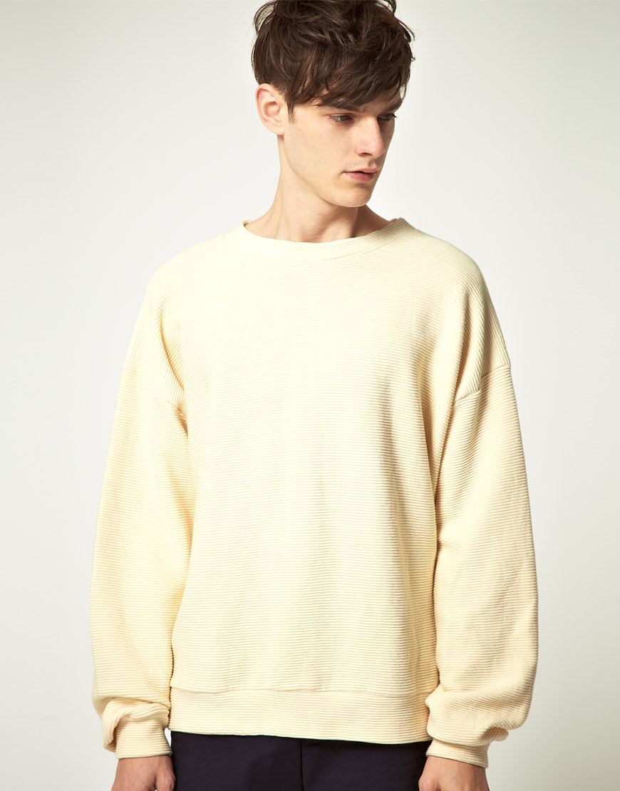 Lyst american apparel american apparel ottoman rib drop for How to not sweat through dress shirts