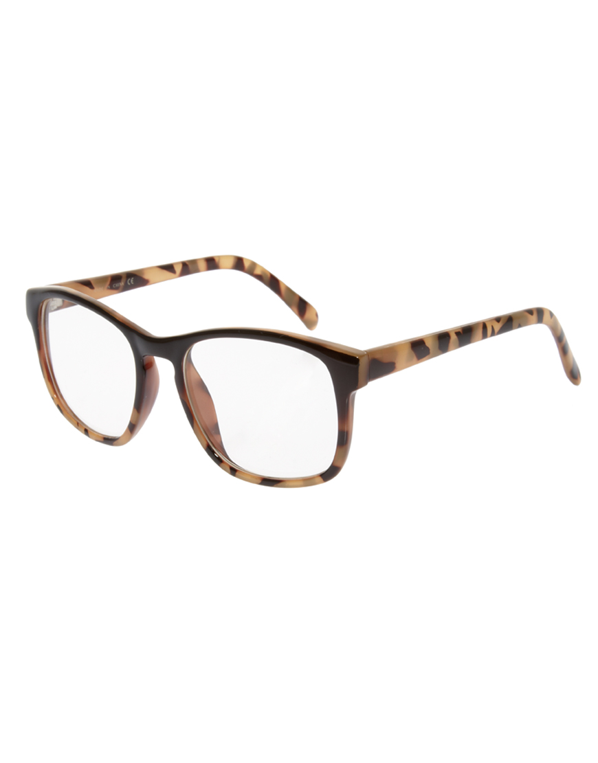 0dd97b09ecd Lyst - ASOS Asos Graduated Square Clear Lens Glasses in Brown for Men
