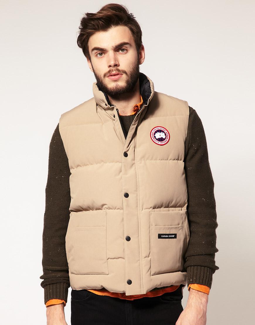 canada goose vest beige