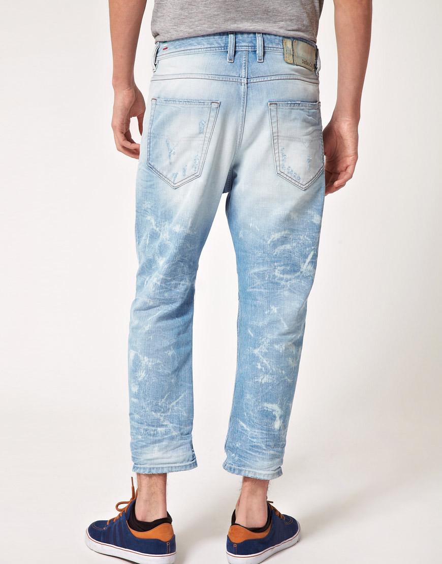 Lyst Diesel Narrot Carrot Fit Jeans In Blue For Men
