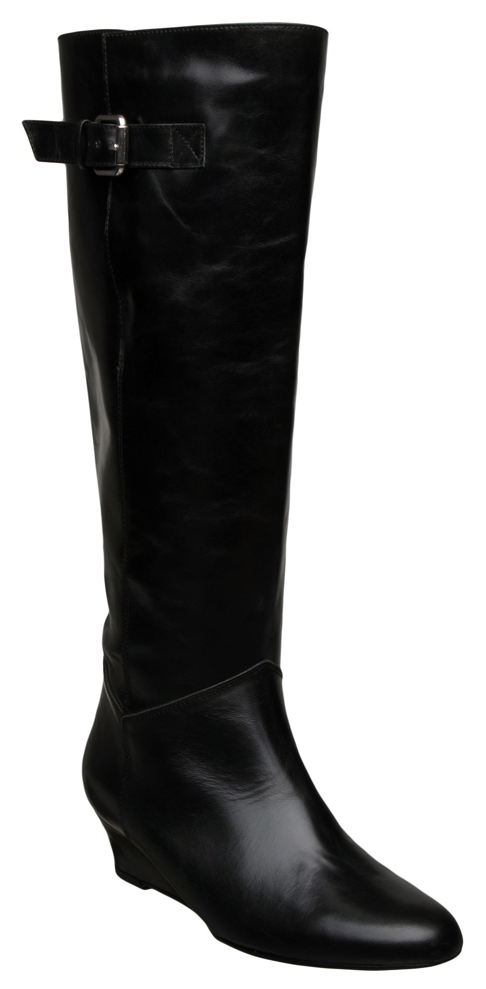 dune preach d low wedge high boots in black lyst