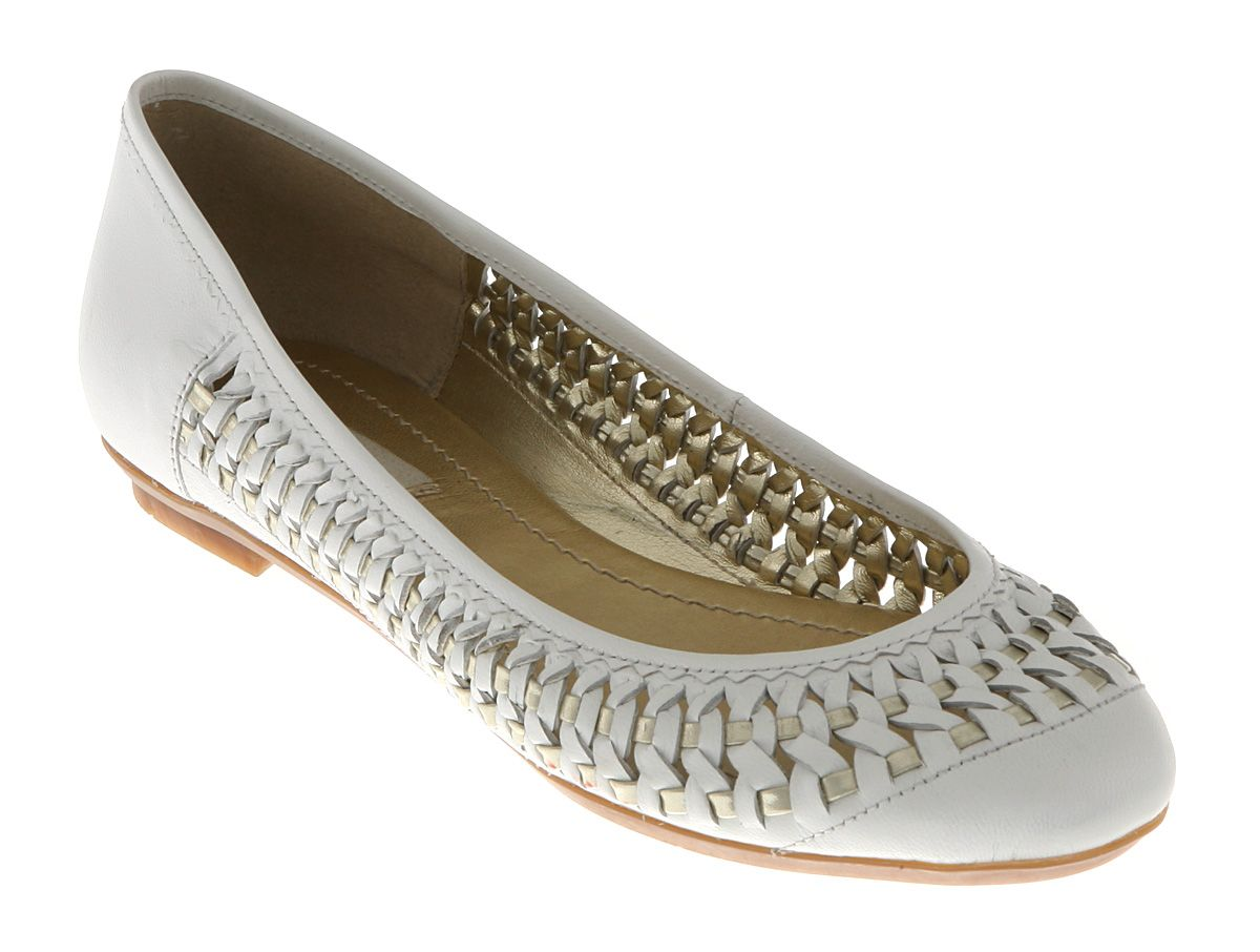 dune moren woven toe casual shoes in white lyst