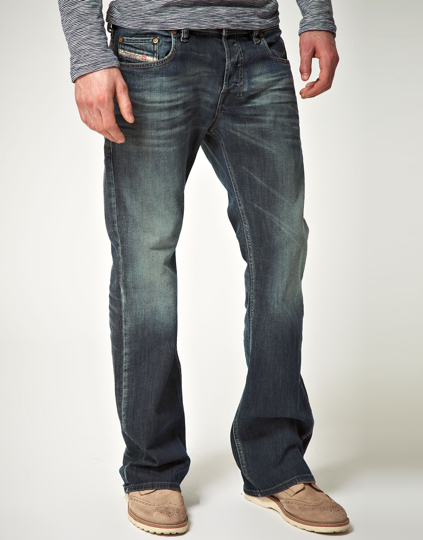 Diesel Zathan 885k Bootcut Jean in Blue for Men | Lyst Diesel Jeans Men Bootcut