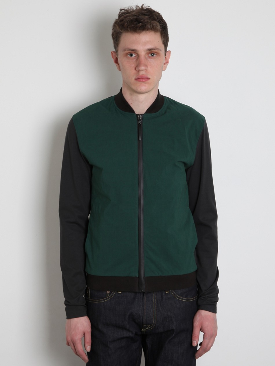 jil sander blouson jacket in green for men lyst. Black Bedroom Furniture Sets. Home Design Ideas