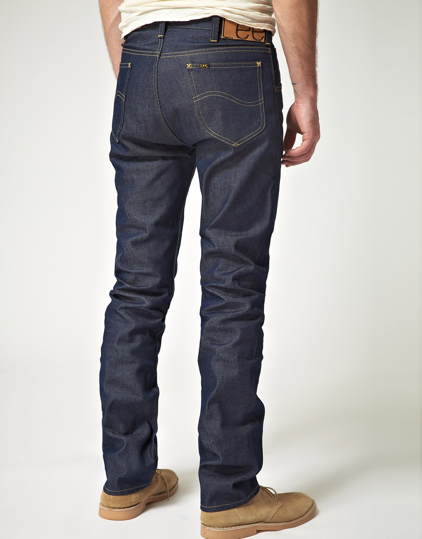 Fit Lyst Men Selvedge Slim In Lee Rider For Blue 101 Jeans qHx4CqY