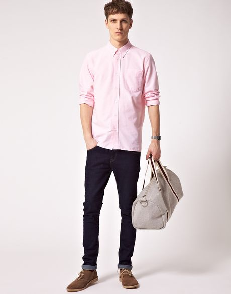 Pink Oxford Shirt Oxford Shirt in Pink For