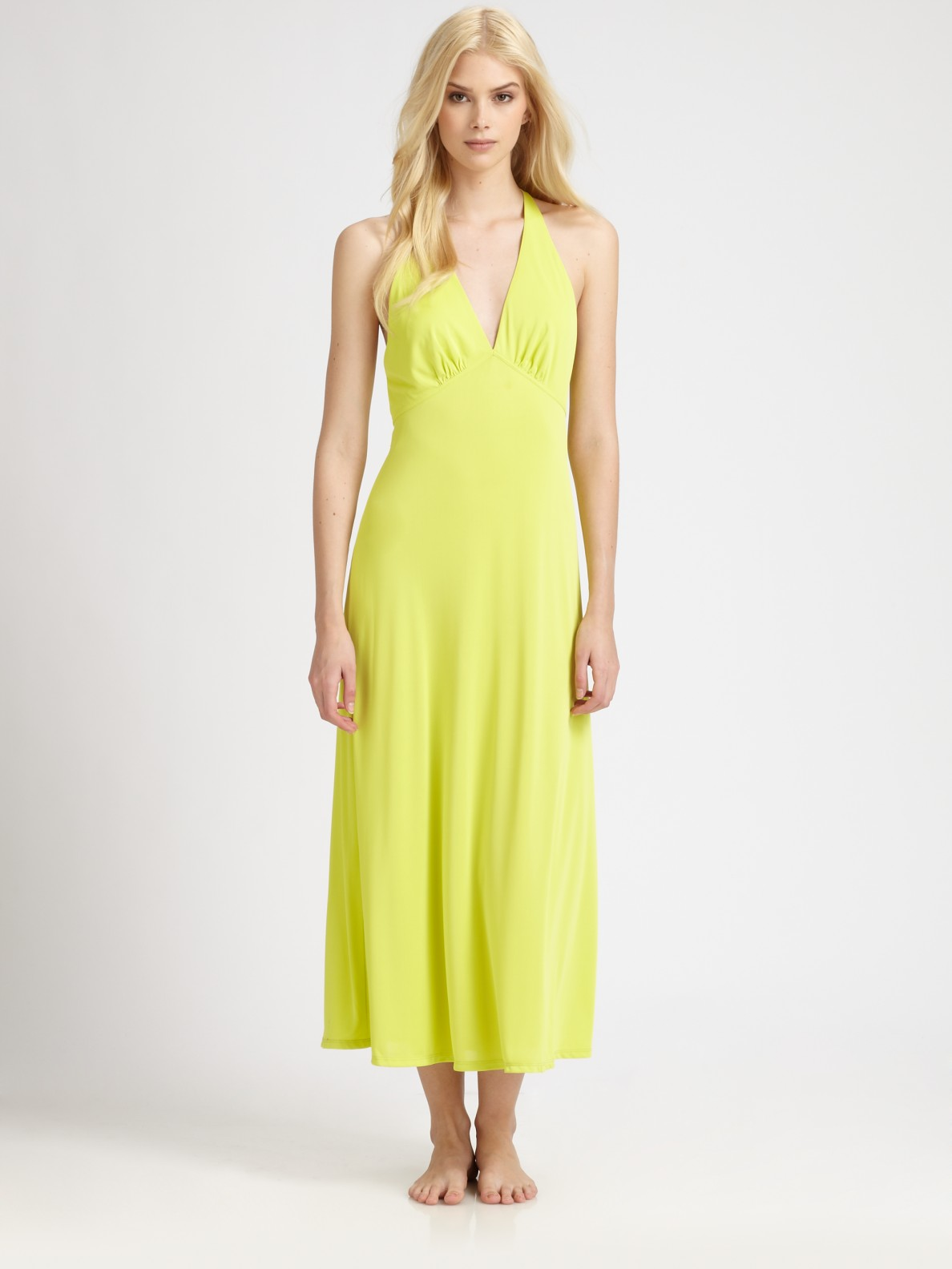 Lyst - Natori Aphrodite Gown in Yellow