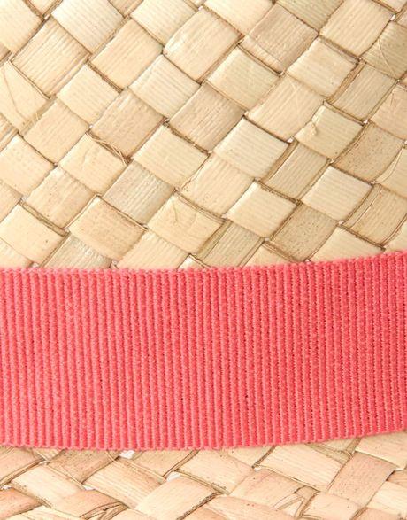 Paul Smith Paul Smith Straw Trilby Hat With Interior