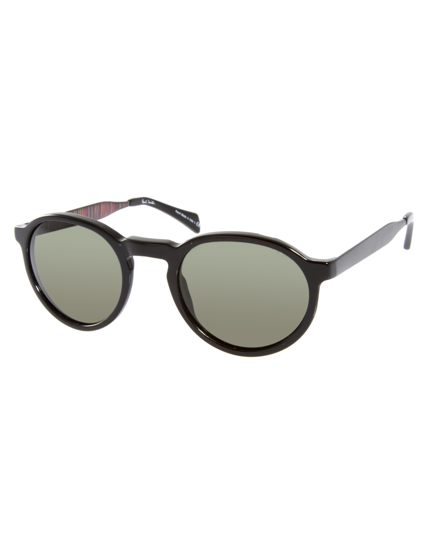 8442c3ee1539d Paul Smith Elson Round Sunglasses in Black for Men - Lyst