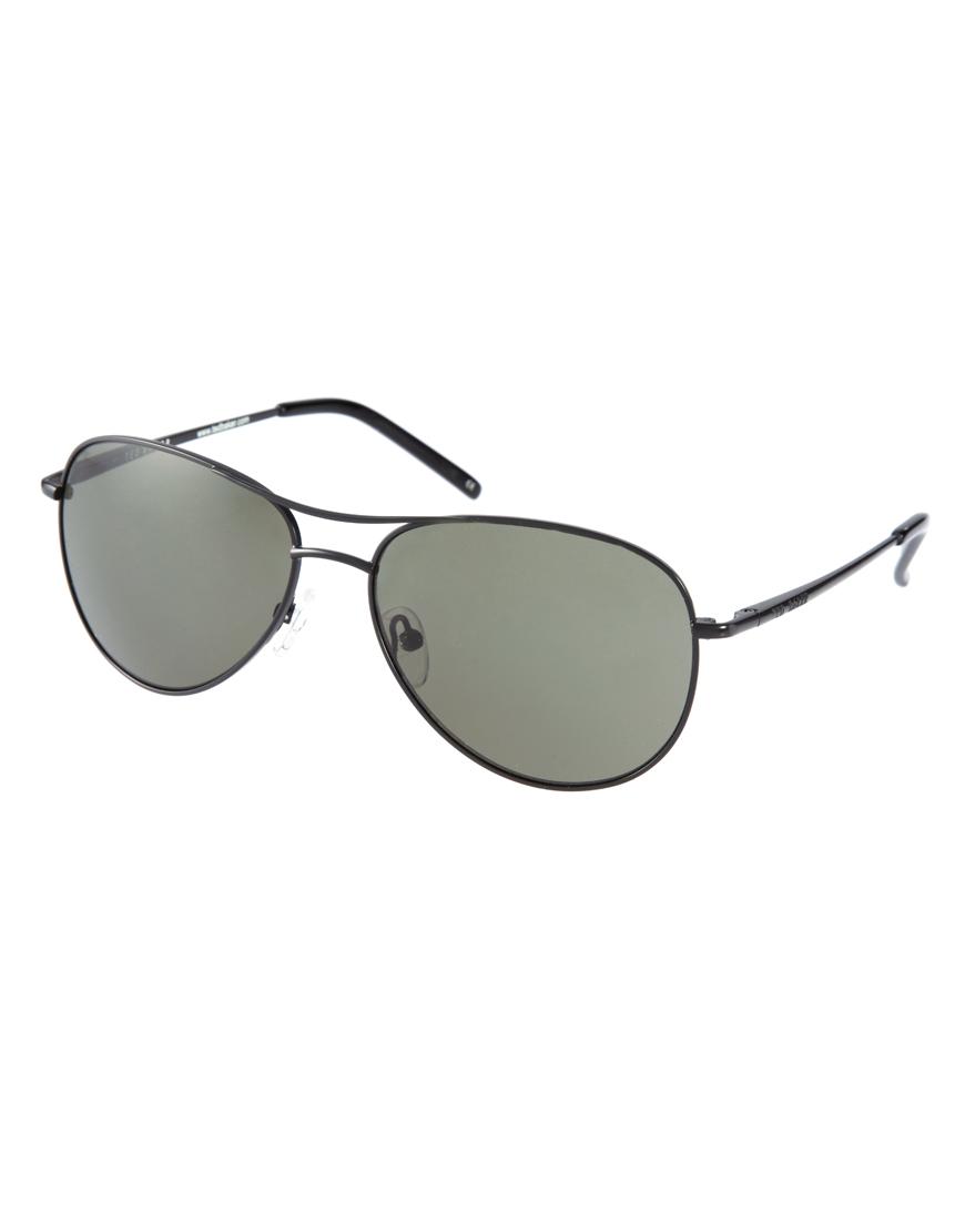 673be45019e Lyst - Ted Baker Ted Baker Carter Aviator Sunglasses in Black for Men