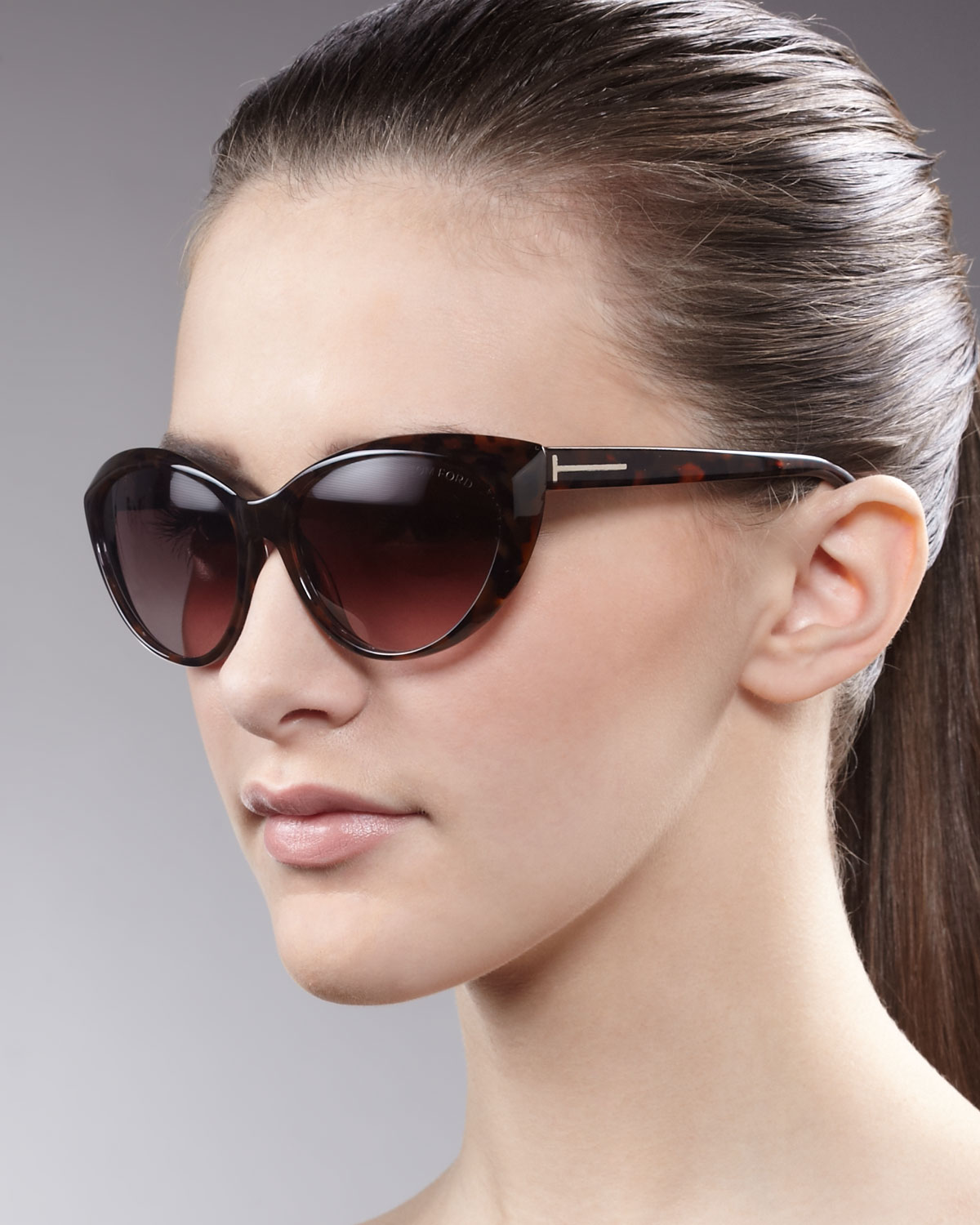 tom ford martina cateye sunglasses in brown lyst. Black Bedroom Furniture Sets. Home Design Ideas