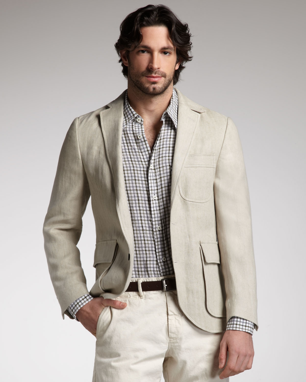 Images of Linen Blazer - Reikian
