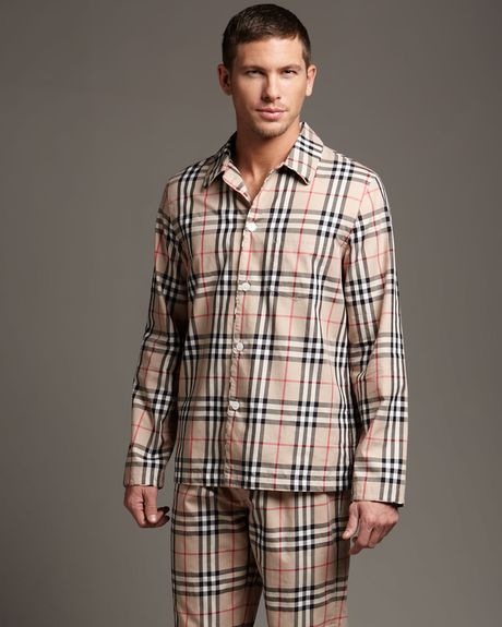 Burberry Check Pyjamas in Beige for Men (tan) - Lyst