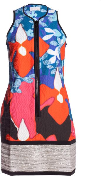 Peter Pilotto Peter Pilotto Womens Digital Print Zip Shift Dress in Blue (red) - Lyst