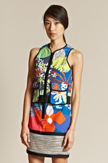 Peter Pilotto Peter Pilotto Womens Digital Print Zip Vest Top - Lyst