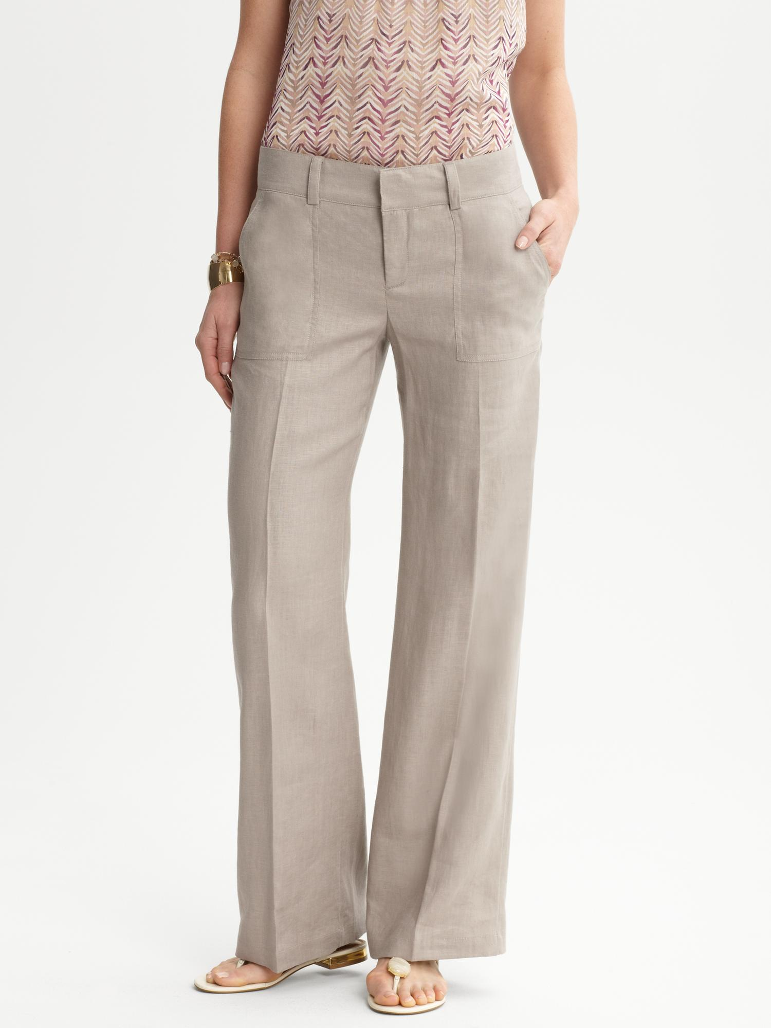 Choose from a bright selection of linen trousers, linen suit trousers, linen pants, wide-leg pants and more. Skip Navigation: Skip to: Top Navigation, Shopping Bag, Main Content, Footer Navigation.
